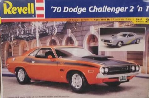 Revell 1970 Dodge Challenger 2 'n 1 box cover