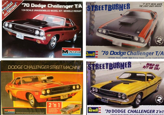 Other 1970 Dodge Charger model kits by Revell