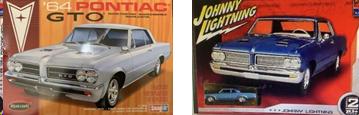 AMT box covers of 1964 Pontiac GTO