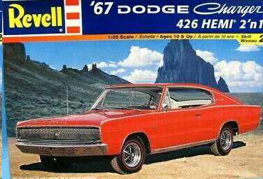 Revell 1967 Dodge Charger box top