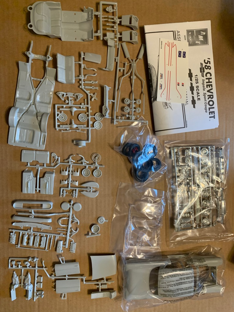 Parts for 1958 Chevy Impala AMT kit