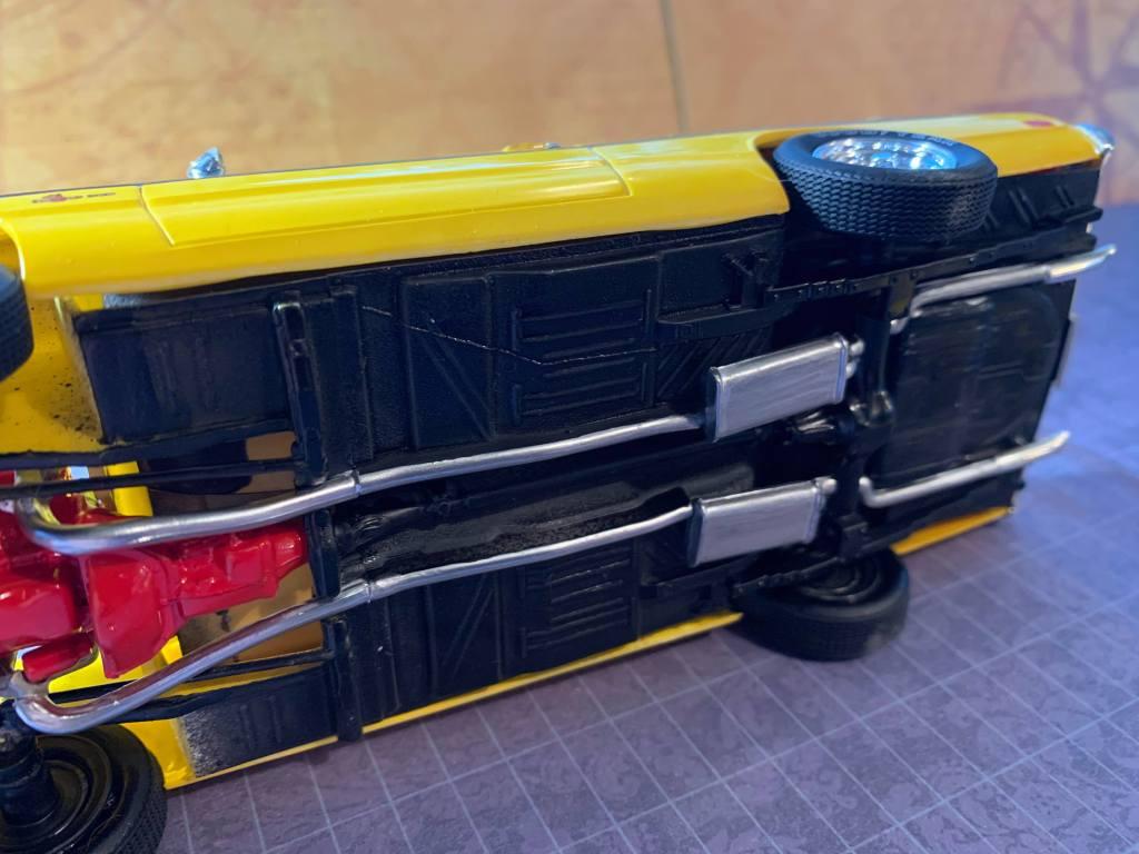 1971 Dodge Demon MPC kit underside & exhaust