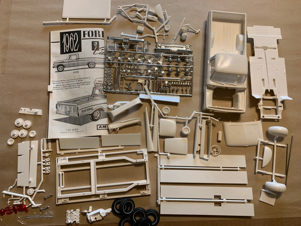 XRAY of 1962 Ford F100 AMT 3n1 kit. VERY RARE